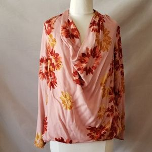 Halogen floral high low shirt